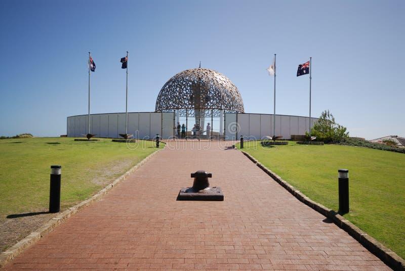Monumento Geraldton de HMAS Sydney fotografía de archivo libre de regalías
