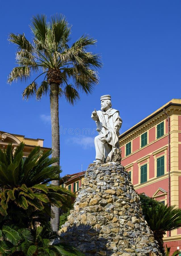 Monumento a Giuseppe Garibaldi, al comandante italiano, al revolucionario y al político fotos de archivo libres de regalías