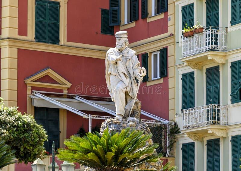 Monumento a Giuseppe Garibaldi, comandante italiano, revolucionário e político fotos de stock royalty free