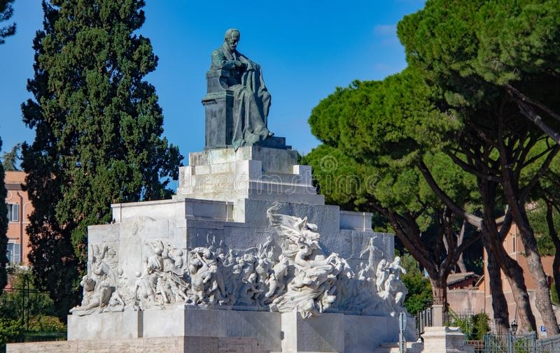 Monumento a Giuseppe Mazzini foto de stock royalty free