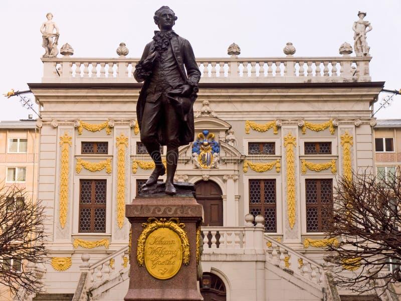 Monumento a Goethe fotografia de stock