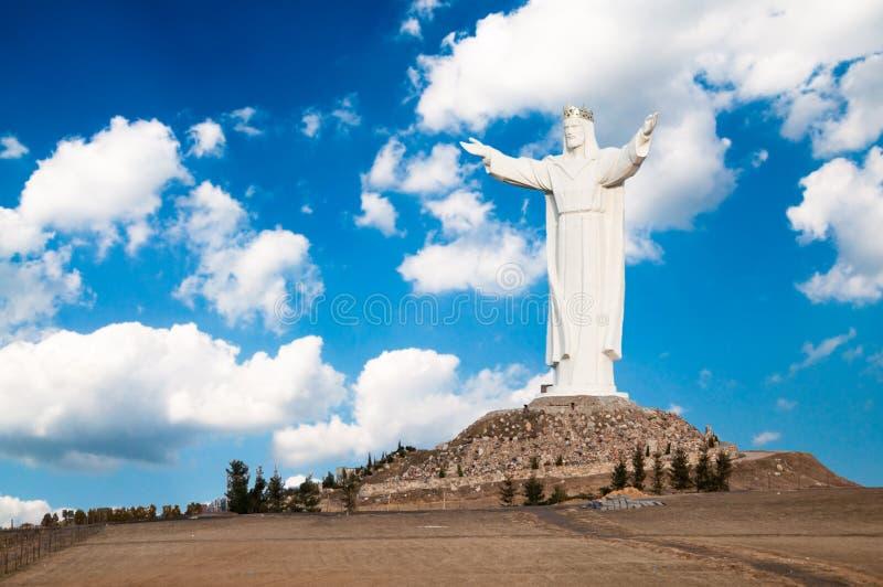 Monumento grande del Jesucristo imagen de archivo