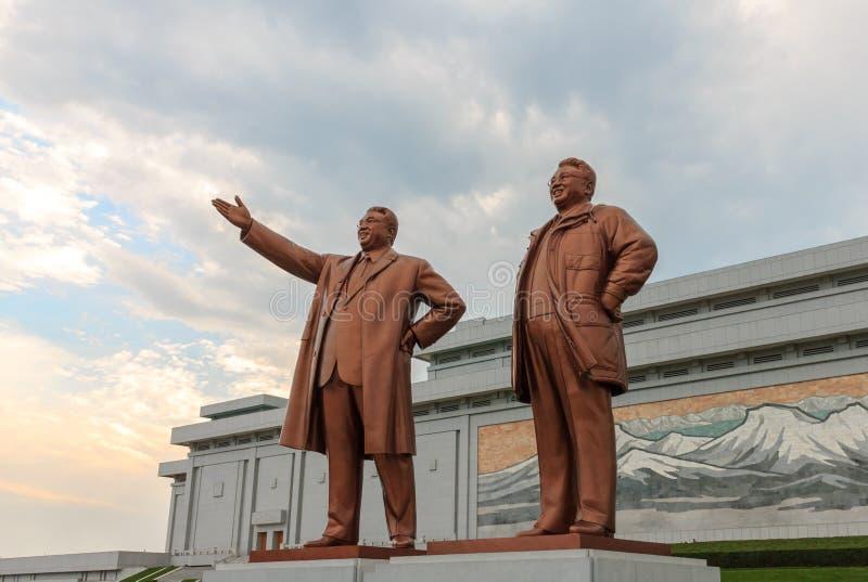 Monumento grande em Pyongyang fotos de stock