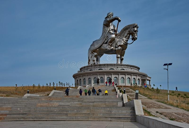 Monumento a grande Gengis Khan immagini stock