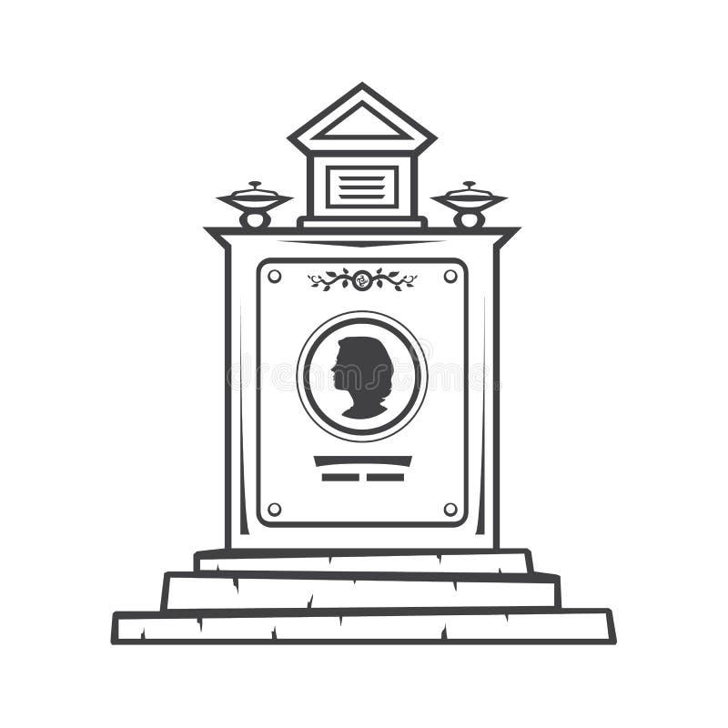 monumento grave da lápide ilustração royalty free