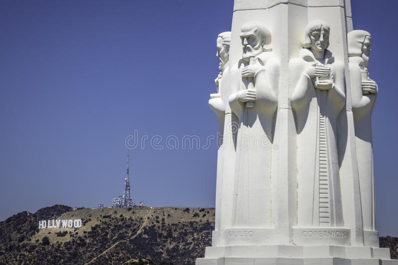 Monumento a Griffith Observatory a Los Angeles immagini stock