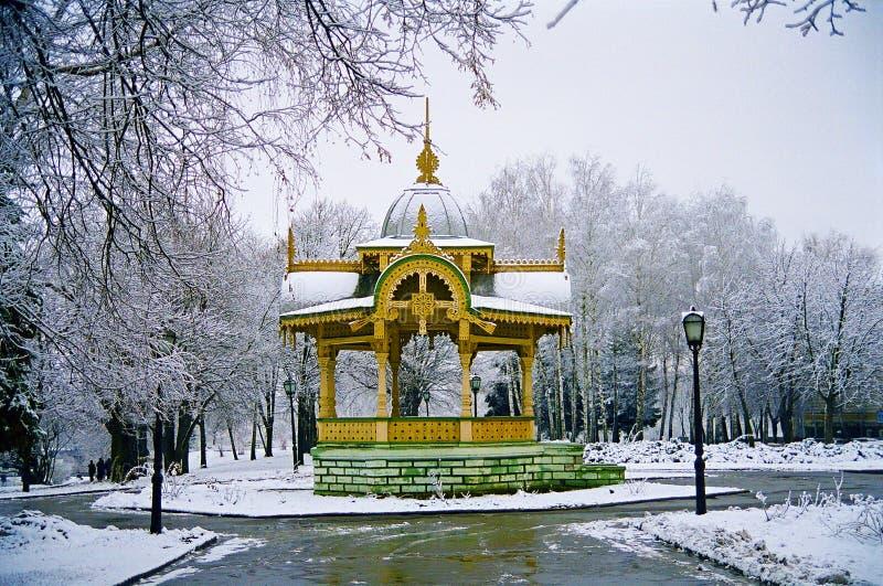 Monumento histórico do século XIX da arquitetura elegante e do Int fotografia de stock