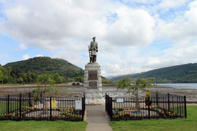 Monumento Honourary em Inveraray fotos de stock