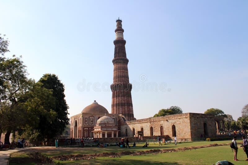 Monumento indiano Qutub minar fotografia de stock royalty free