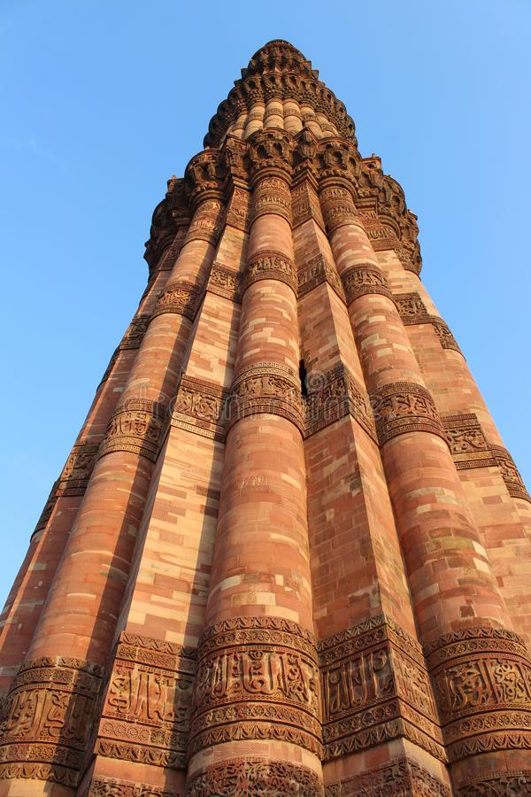Monumento indiano Qutub minar fotos de stock royalty free