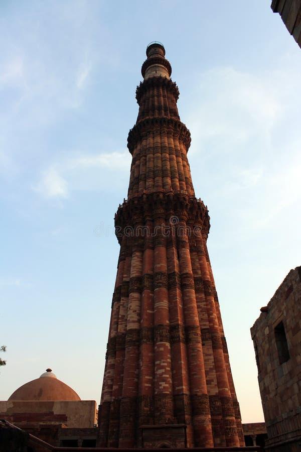 Monumento indiano Qutub minar foto de stock royalty free