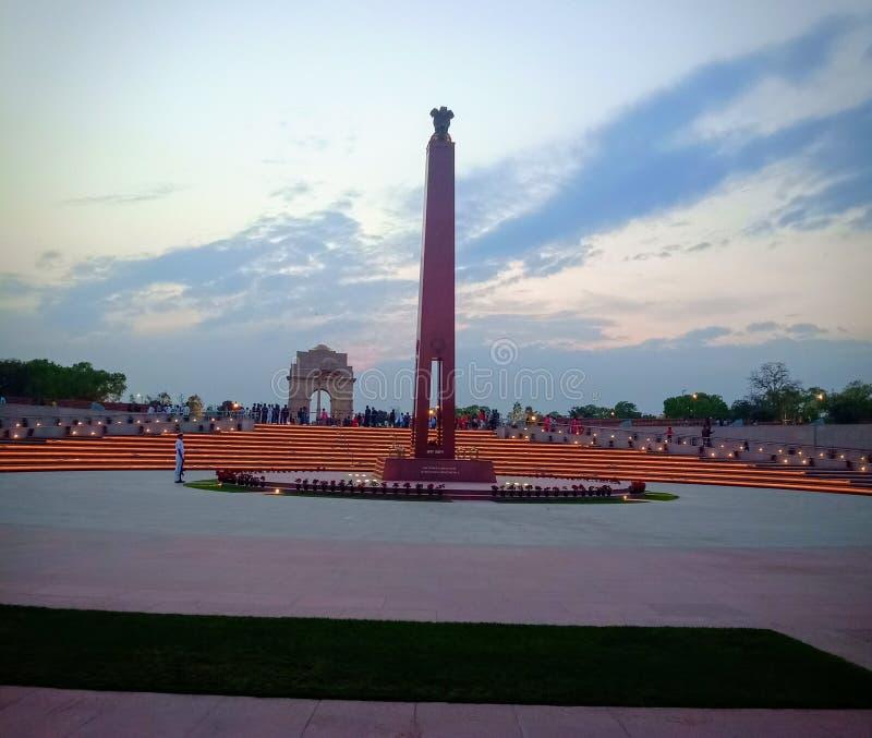 Monumento indio de la guerra foto de archivo