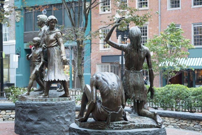 Monumento irlandés del hambre de Boston fotos de archivo