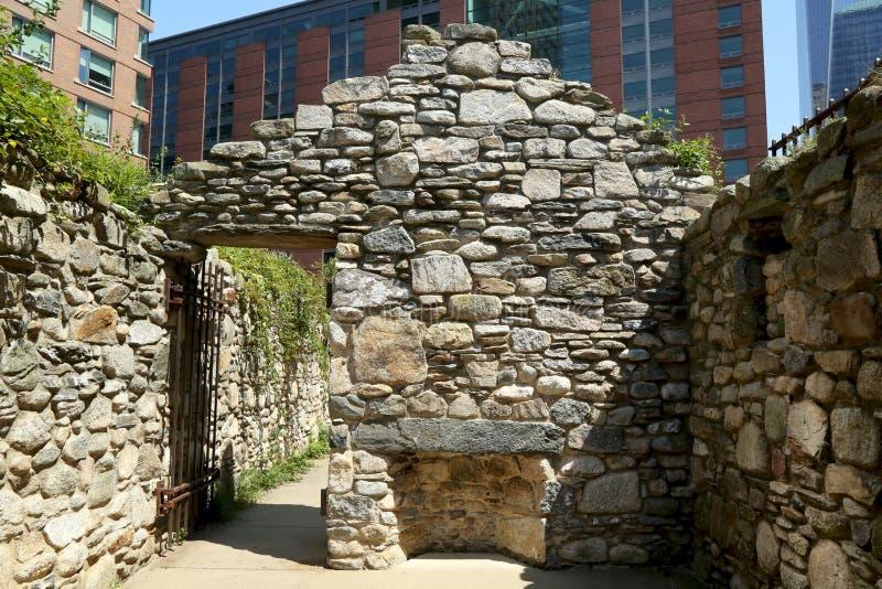 Monumento irlandés del hambre de New York City foto de archivo libre de regalías