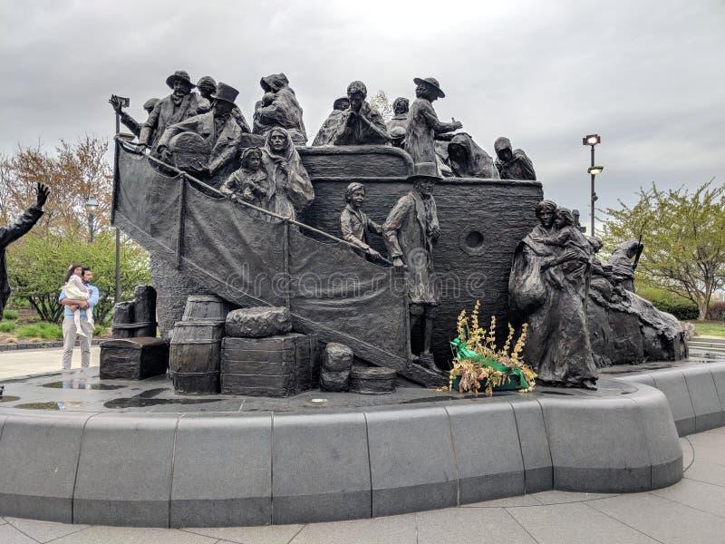 Monumento irlandés en Philadelphia a la gran hambre imagen de archivo libre de regalías