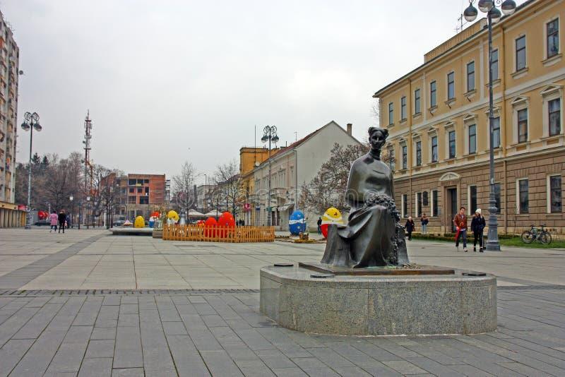 Monumento a Ivana Brlic Mazuranic foto de archivo