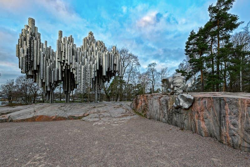 Monumento a Jan Sibelius, compositor finland?s Hels?nquia, Finlandia imagens de stock royalty free