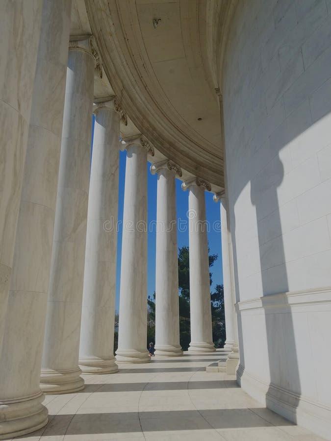 Monumento a Jefferson, Washington D C. C. , vista de la pasarela exterior imágenes de archivo libres de regalías