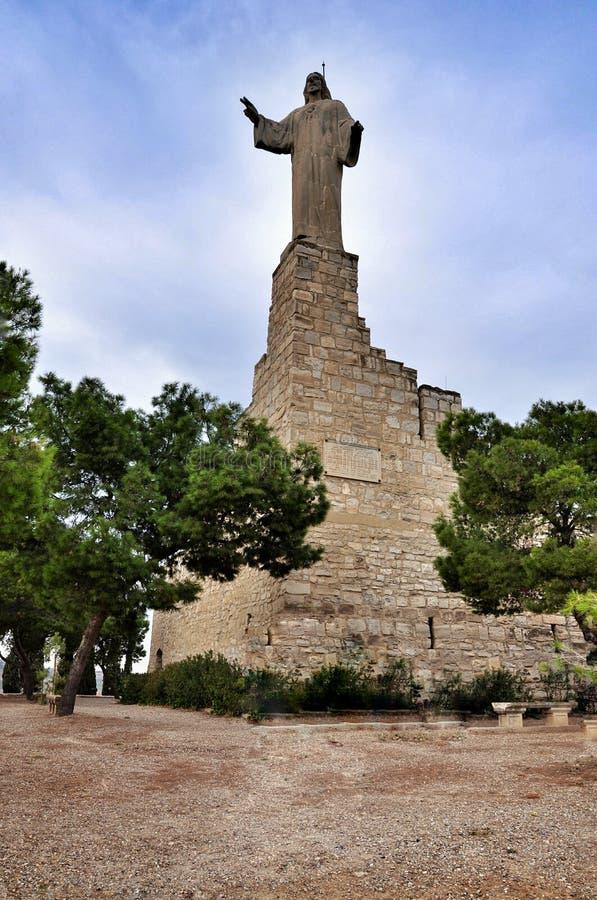Monumento Jesus em Tudela, Espanha foto de stock royalty free