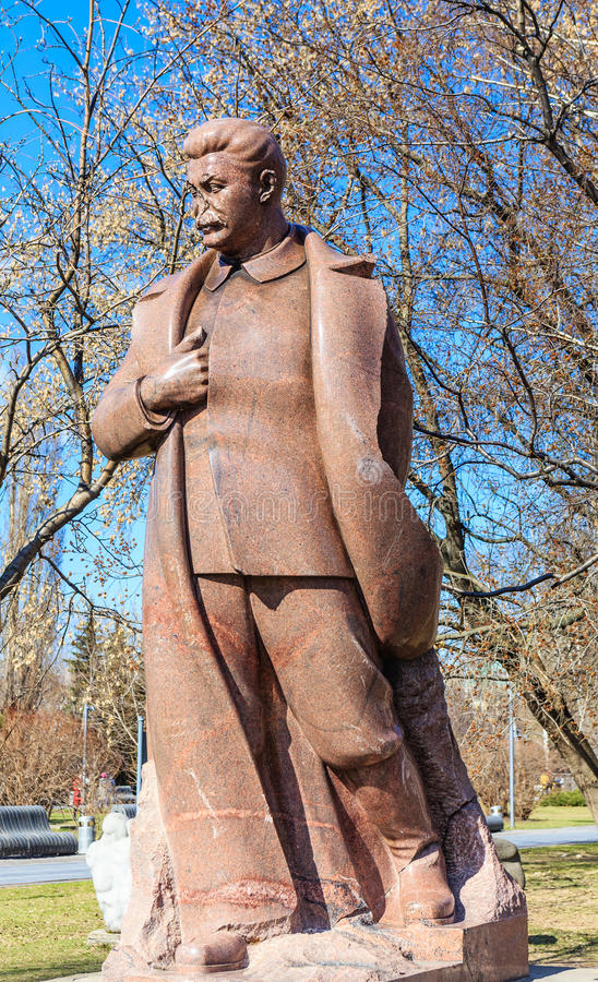 Monumento a Joseph Stalin imagenes de archivo