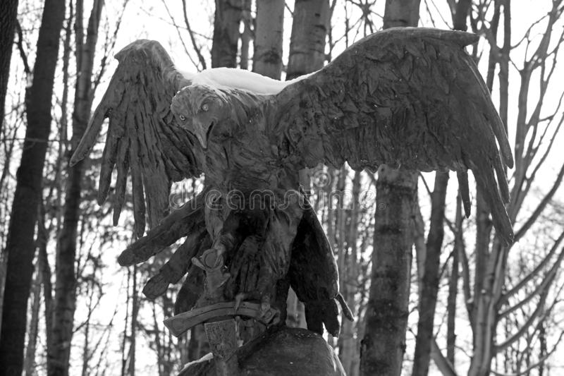 Monumento a Jozef Kurasia, tenente no exército polonês desde 1939, Zakopane, Polônia fotografia de stock royalty free