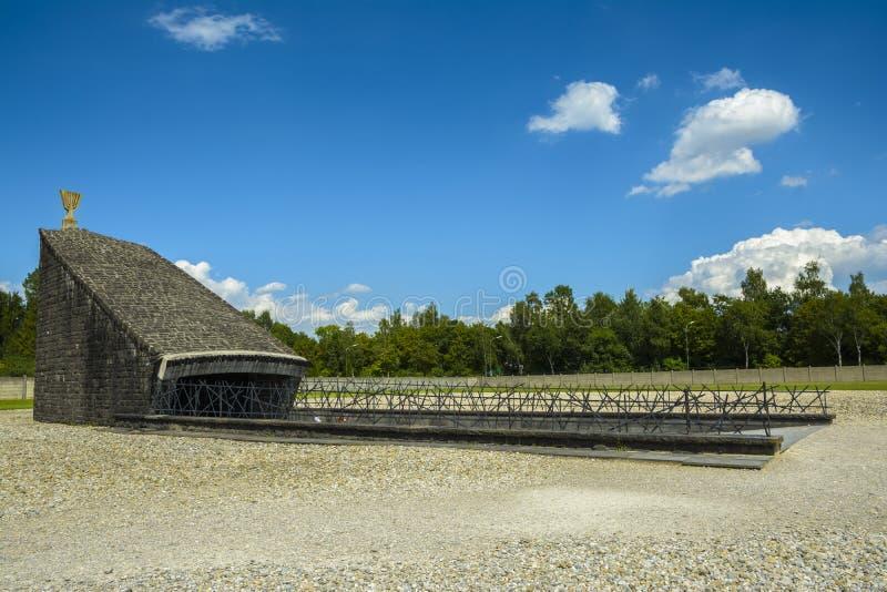 Monumento judío en el campo de concentración en Dachau, Alemania fotografía de archivo libre de regalías