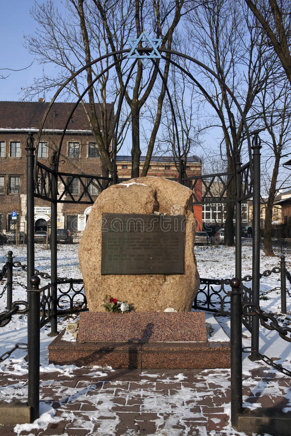 Monumento judío - Kraków - Polonia fotografía de archivo