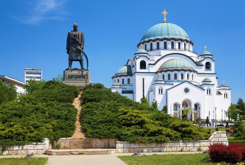 Monumento a Karageorge Petrovitch em Belgrado fotografia de stock