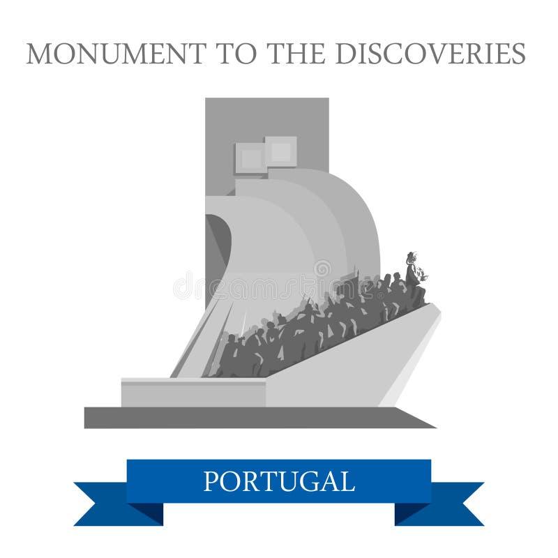 Monumento a la atracción plana del vector de Portugal Europa de los descubrimientos libre illustration