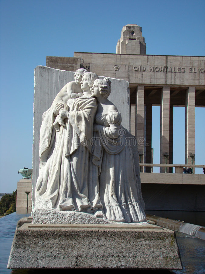 Monumento La Bandera - het Vierkant van Lola Mora stock afbeelding
