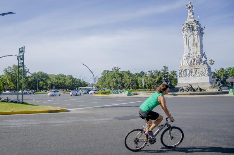 Monumento a La Carta Magna y las Cuatro Regiones Argentinas - Monumento de los españoles royalty free stock image