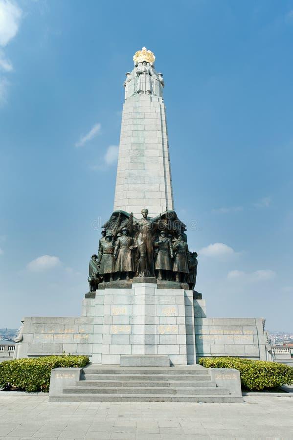 Monumento a la gloria de la infantería belga en Primera Guerra Mundial e II foto de archivo