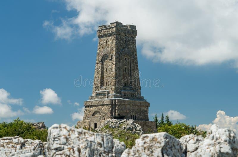 Monumento a la libertad Shipka - Shipka, Gabrovo, Bulgaria El monumento de Shipka se sitúa en el pico de Shipka en el Balcan imágenes de archivo libres de regalías