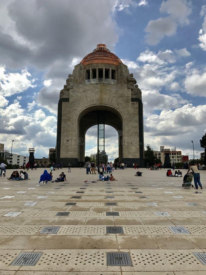 Monumento a la revolución mexicana fotografía de archivo libre de regalías