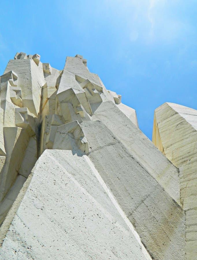 Monumento a la Segunda Guerra Mundial de Tjentiste, Bosnia y Herzegovina, una parte del monumento, detalle fotografía de archivo libre de regalías