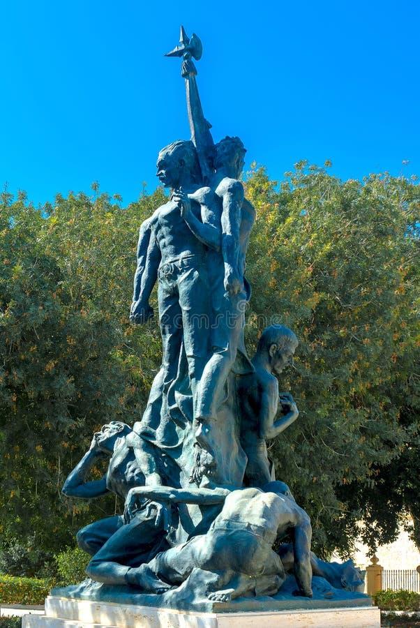 Monumento a la sublevación del 7 de junio de 1919, La Valeta, Malta foto de archivo libre de regalías