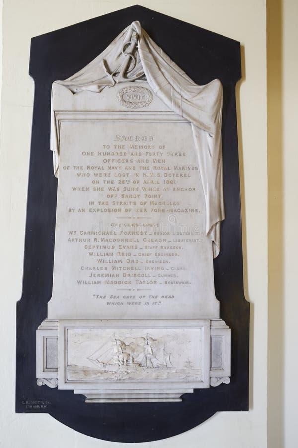 Monumento a la tragedia del HMS DOTEREL foto de archivo libre de regalías