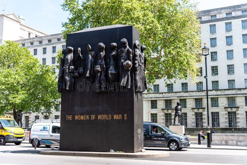 Monumento a las mujeres de la Segunda Guerra Mundial en Londres imágenes de archivo libres de regalías