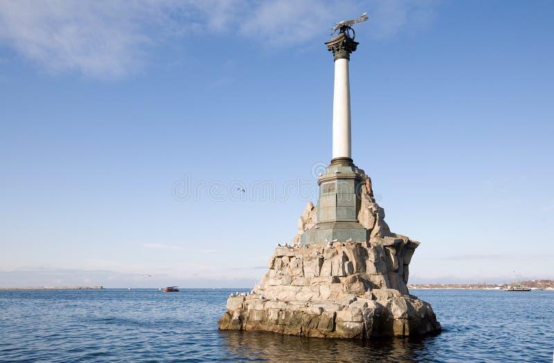 Monumento a las naves rusas barrenadas imagen de archivo