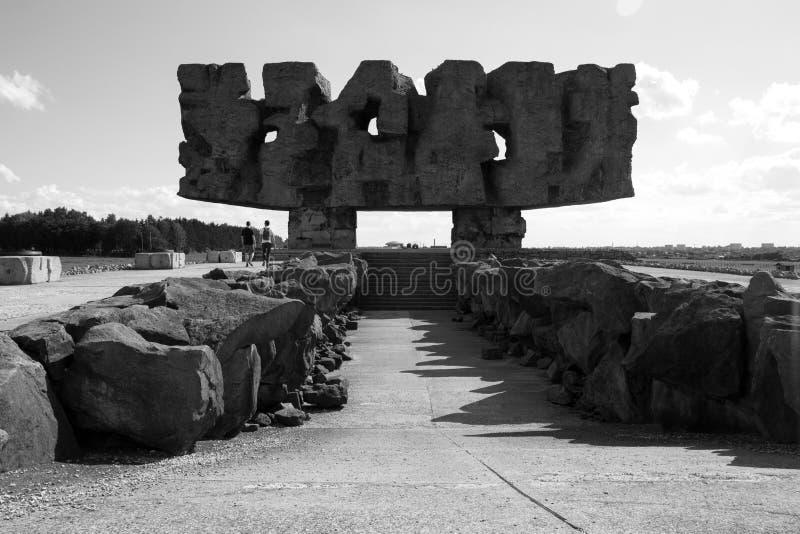 Monumento a las víctimas asesinadas en Majdanek foto de archivo libre de regalías
