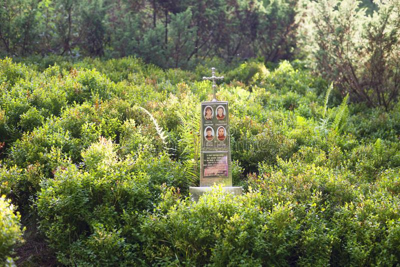 Monumento a las víctimas de la avalancha fotografía de archivo