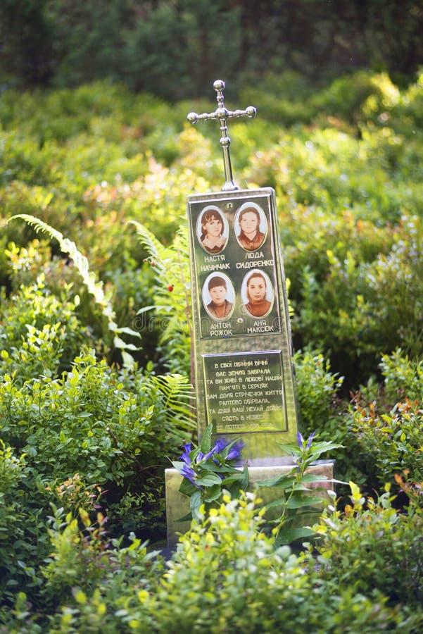 Monumento a las víctimas de la avalancha imagen de archivo