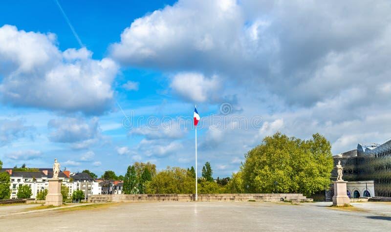 Monumento a las víctimas de la primera guerra mundial en Nantes, Francia imagenes de archivo