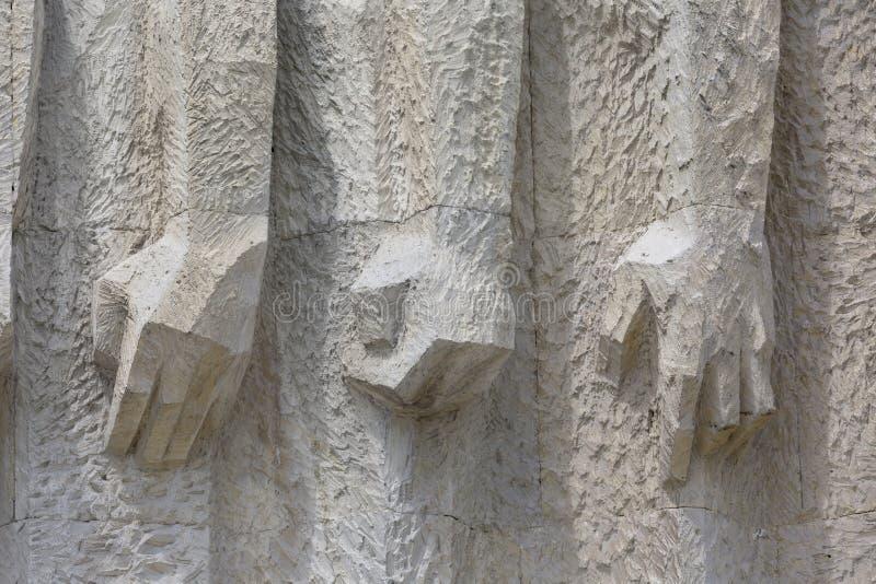 Monumento a las víctimas del fascismo Plaszow en Kraków, Polonia fotografía de archivo