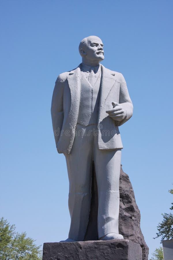 Monumento Lenin em uma área imagem de stock