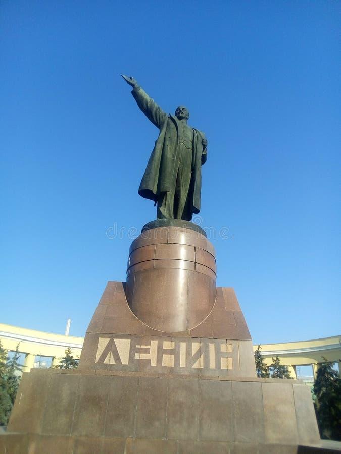 Monumento a Lenin em Volgograd, Rússia imagem de stock royalty free
