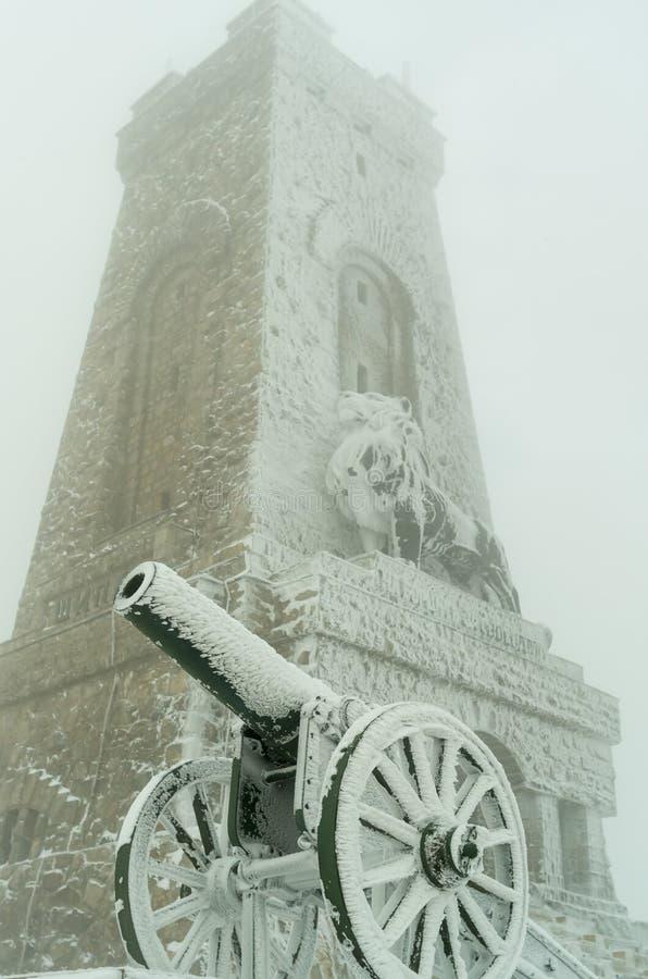Monumento ? liberdade Shipka 1877 - Shipka, Gabrovo, Bulg?ria fotografia de stock