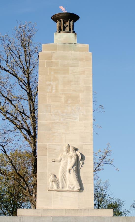 Monumento ligero eterno de la paz en Gettysburg fotografía de archivo