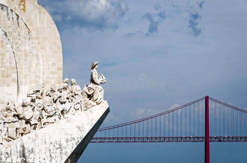 Monumento Lisbona Portogallo di scoperta fotografie stock libere da diritti