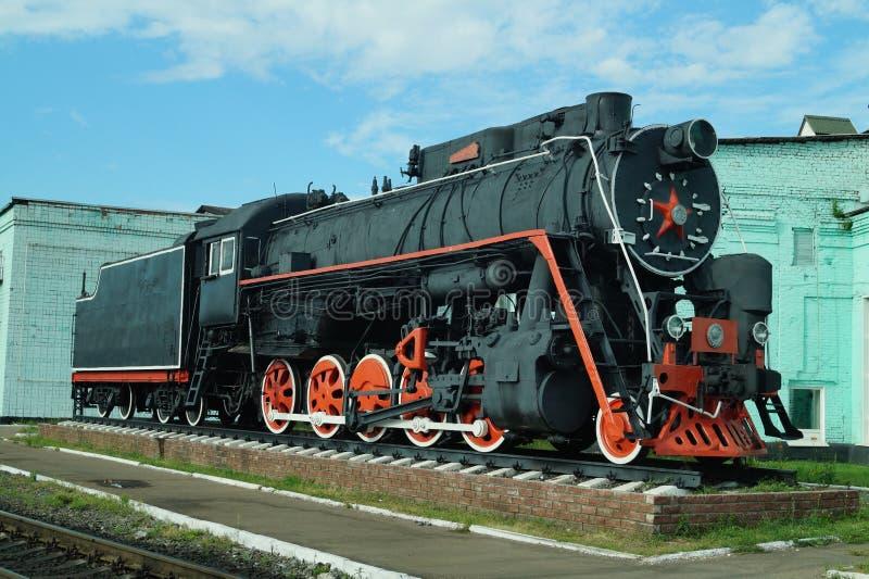 Monumento locomotivo l-0186 fotografia stock libera da diritti
